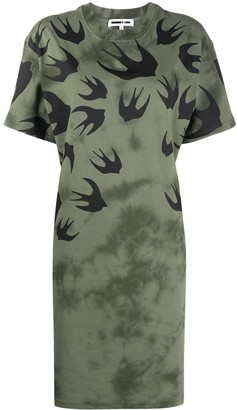 McQ Swallow swallow-print T-shirt dress