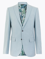 Marks and Spencer Pastel Regular Fit Jacket with Stretch