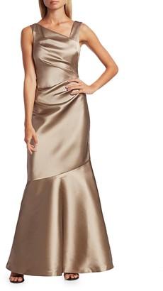 Teri Jon Stretch Taffeta Mermaid Gown