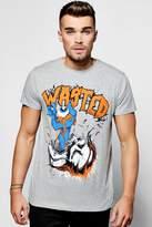 boohoo Wasted Print T Shirt grey