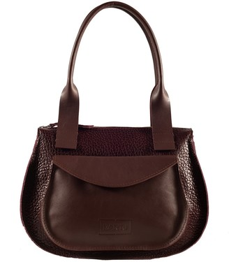 "Kartu Studio Natural Leather Handbag ""Turmeric"" Burgundy"