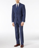 Tommy Hilfiger Men's Slim Fit Bright Blue Check Stretch Performance Suit