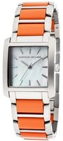 Kenneth Jay Lane Women's KJLANE-1605 Stainless Steel Watch with Coral-Color Resin Bracelet