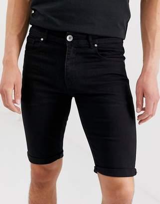 APT denim shorts in black