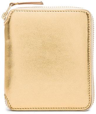 Comme des Garcons Gold Line Zip Wallet in Gold | FWRD