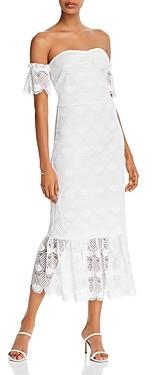 Aqua Lace Off-The-Shoulder Dress - 100% Exclusive