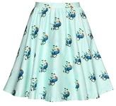 Alice + Olivia Earla Printed Cotton Skirt