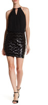 GUESS Halter Chain Sequin Dress