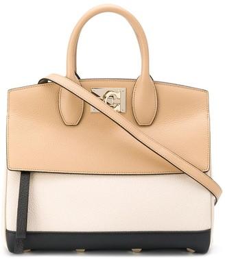 Salvatore Ferragamo Two-Tone Tote Bag