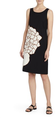Lafayette 148 New York Rhye Floral Applique Shift Dress