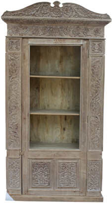 Empress Homewares Hand Carved North Indian Bookcase