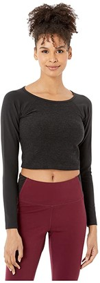 Beyond Yoga Spacedye In The Mix Cropped Top (Darkest Night) Women's Clothing