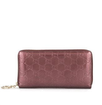Gucci Pre Owned GG pattern all around zipped wallet