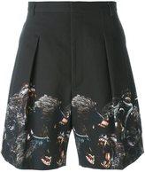 Givenchy baboon print shorts
