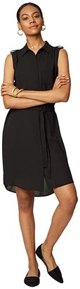 NYDJ Sleeveless Camp Dress (Black) Women's Dress