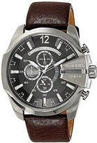 Diesel Men's DZ4290 Mega Chief Stainless Steel Brown Leather Watch