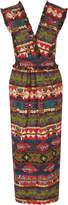 Stella Jean Tribal Print Cotton-blend Dress with Pockets