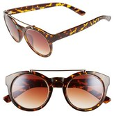 A. J. Morgan Women's A.j. Morgan 'Argos' 50Mm Sunglasses - Tortoise