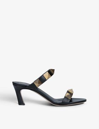 Valentino Oversized Rockstud leather heeled mules