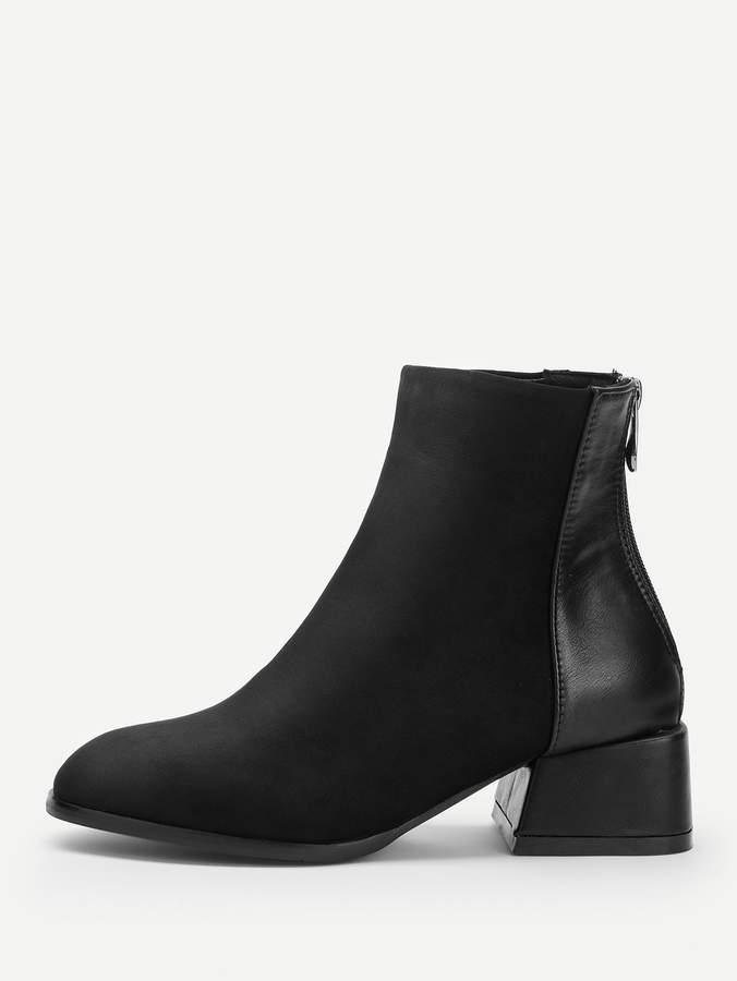 e7a7cacf4b Black Zipper Back Boots - ShopStyle