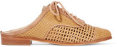 Schutz Dracena Woven Leather Slip-On Brogues