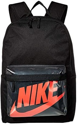 Nike Heritage 2.0 Backpack (Black/Black/Laser Crimson) Backpack Bags