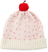 Kate Spade Cupcake Beaded Beanie Hat, Pink