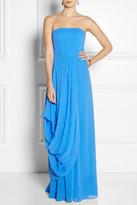 Alice + Olivia Waldorf silk-chiffon gown