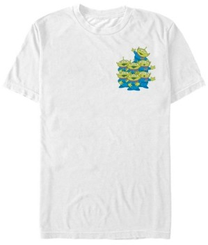 Disney Fifth Sun Toy Story Men's Aliens Group Left Chest Short Sleeve T-Shirt