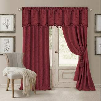 Elrene Home Fashions Mia Jacquard Scroll Blackout Window Curtain Panel