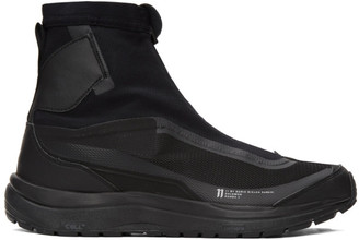 11 By Boris Bidjan Saberi Black Reflective Bamba 2 Sneakers