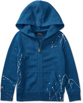 Ralph Lauren Splatter Full-Zip Fleece Hoodie, Toddler & Little Girls (2T-6X)