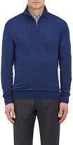 Ermenegildo Zegna Men's Wool Mock Turtleneck Sweater-BLUE