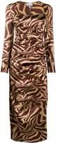 Ganni Animal Print Fitted Dress