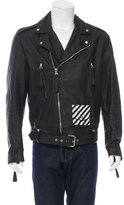 Off-White Leather Biker Jacket w/ Tags