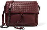 Bottega Veneta Saddle Small Intrecciato Leather Shoulder Bag - Burgundy