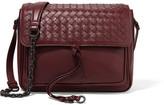 Bottega Veneta Saddle Small Intrecciato Leather Shoulder Bag - Burgundy
