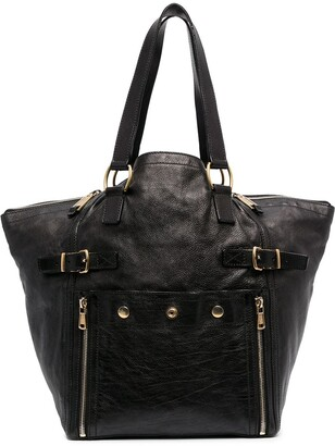 Yves Saint Laurent Pre-Owned Decorative Buckle Studded Tote Bag