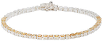 Hatton Labs SSENSE Exclusive Silver and Yellow Tennis Bracelet