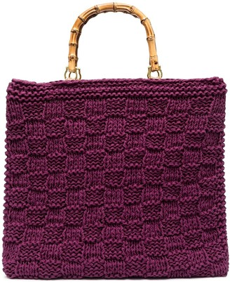 La Milanesa Bamboo-Handle Crochet Tote