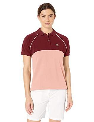 Lacoste Women's S/S Relaxed FIT Color Block Polo