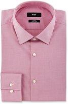 BOSS Slim-Fit Easy-Iron Mini-Check Dress Shirt, Pink