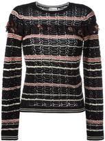 RED Valentino ruffled detail jumper - women - Cotton/Polyester - S