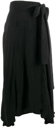 Maison Flaneur Asymmetric Tie Waist Skirt