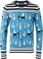 Dolce & Gabbana jazz musicians print jumper - men - Silk - 50