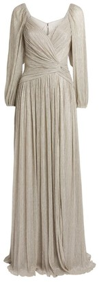 Jonathan Simkhai Adele Lame Wrap Gown