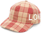 Gucci plaid embroidered Love cap