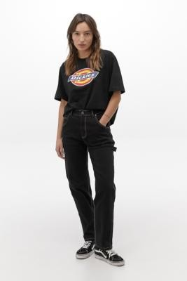 Dickies Black Carpenter Trousers - Black 30 at Urban Outfitters