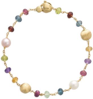 Marco Bicego Africa 18k Mixed-Gemstone Bracelet w/ Pearls
