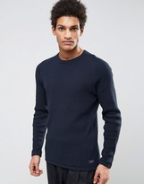 Selected Knitted Waffle Sweater in 100% Cotton